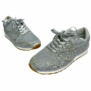 Boutique | Silver Glitter Sneakers Women's Size 8